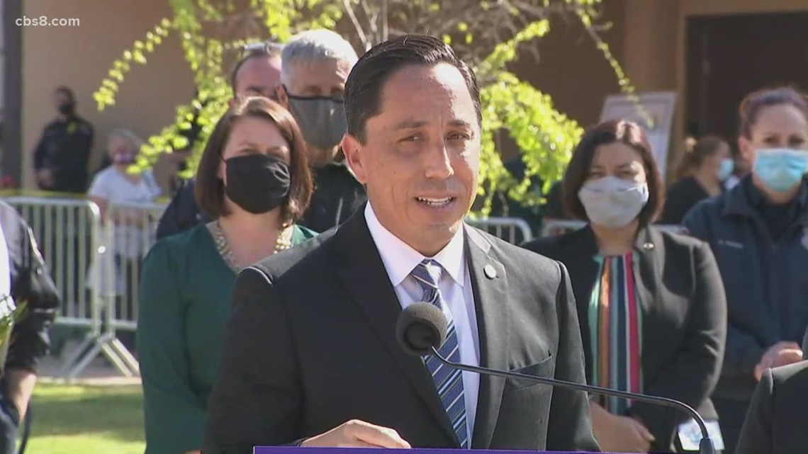 Mayor Todd Gloria stands with Asian American community