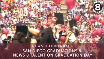 News 8 Throwback: San Diego graduations & News 8 talent on graduation day
