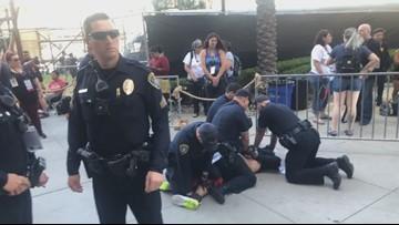 SDPD arrest alleged violent man on sidewalk near Comic-Con in San Diego
