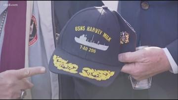 Construction ceremony held for the future USNS Harvey Milk
