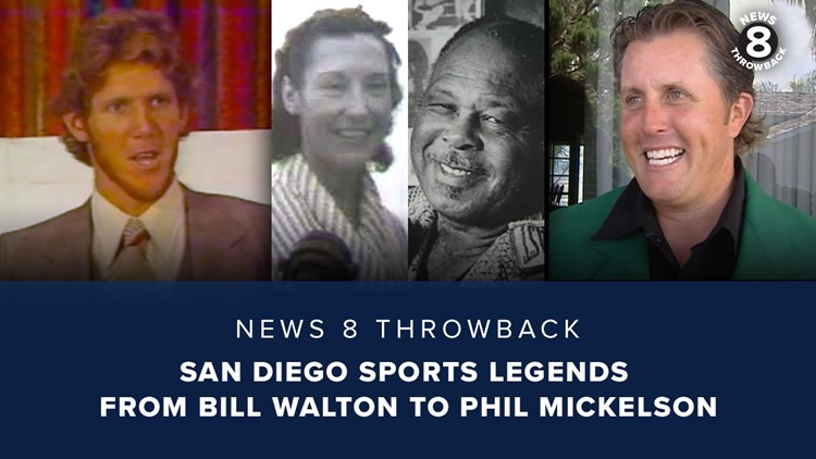 News 8 Throwback: San Diego sports legends from Bill Walton to Phil Mickelson