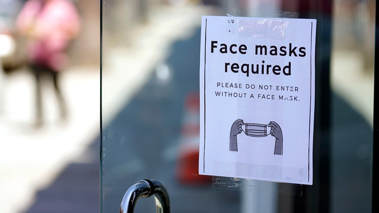 Local businesses ask people to wear a mask indoors again, as vaccination rates rise across the country