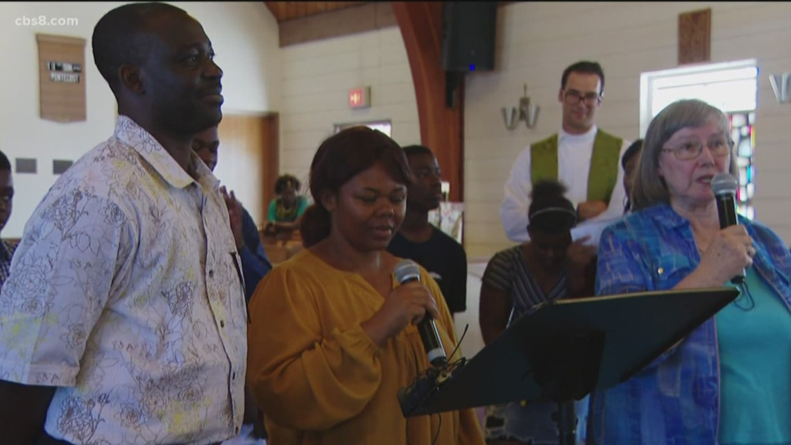 Asylum-seeker joins family in San Diego for 'welcome home' party