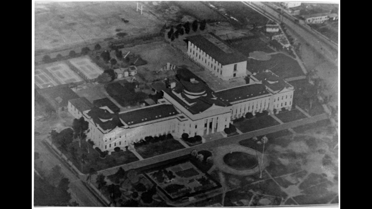 aerial view of old SDSU campus
