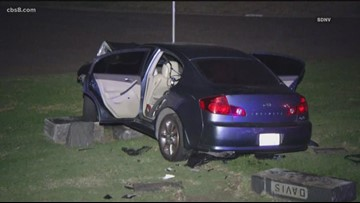 Driver abandons car after crashing into cemetery in Mountain View