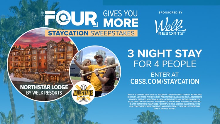 The FOUR gives you more Staycation Sweepstakes!