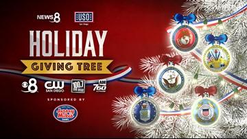 News 8 USO San Diego Holiday Giving Tree 2019