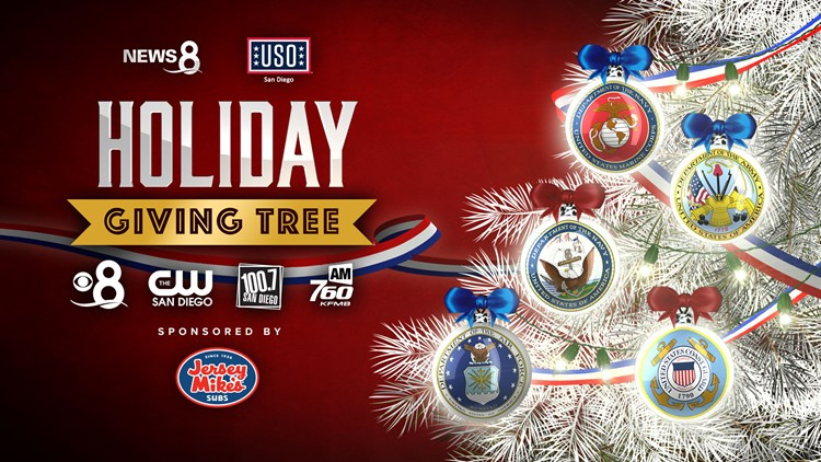 News 8 USO San Diego Holiday Giving Tree - Donate now