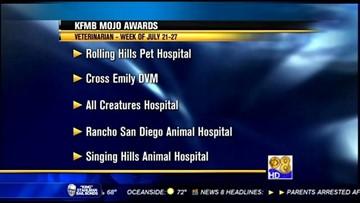 KFMB Mojo Awards - Sunday, July 28, 2013 - Veterinarian