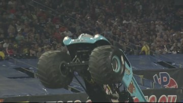 Monster Jam driver Brianna Mahon will cut up the track and your hair
