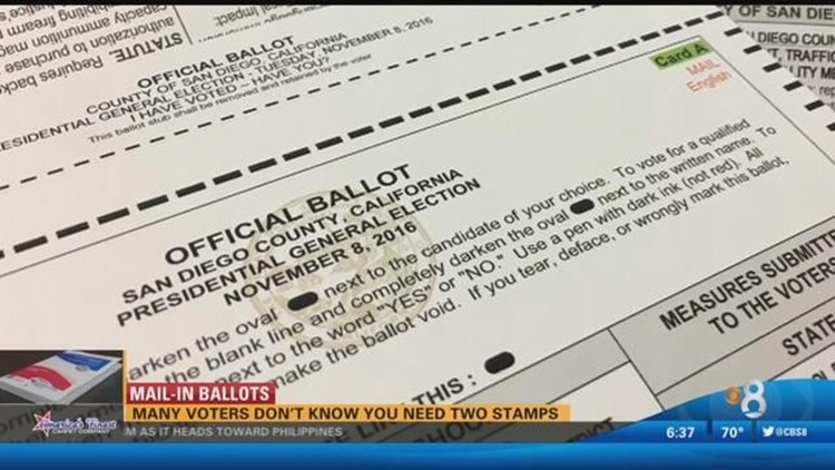 Many voters don't know you need two stamps