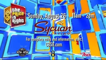 Come audition for 'The Price is Right' at Sycuan Casino on August 26, 2018