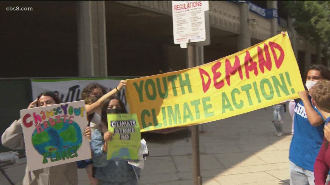 Students hold climate change strikes across San Diego County