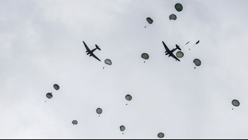'Woo-hoo!' At 97, D-Day veteran & Coronado resident parachutes into Normandy