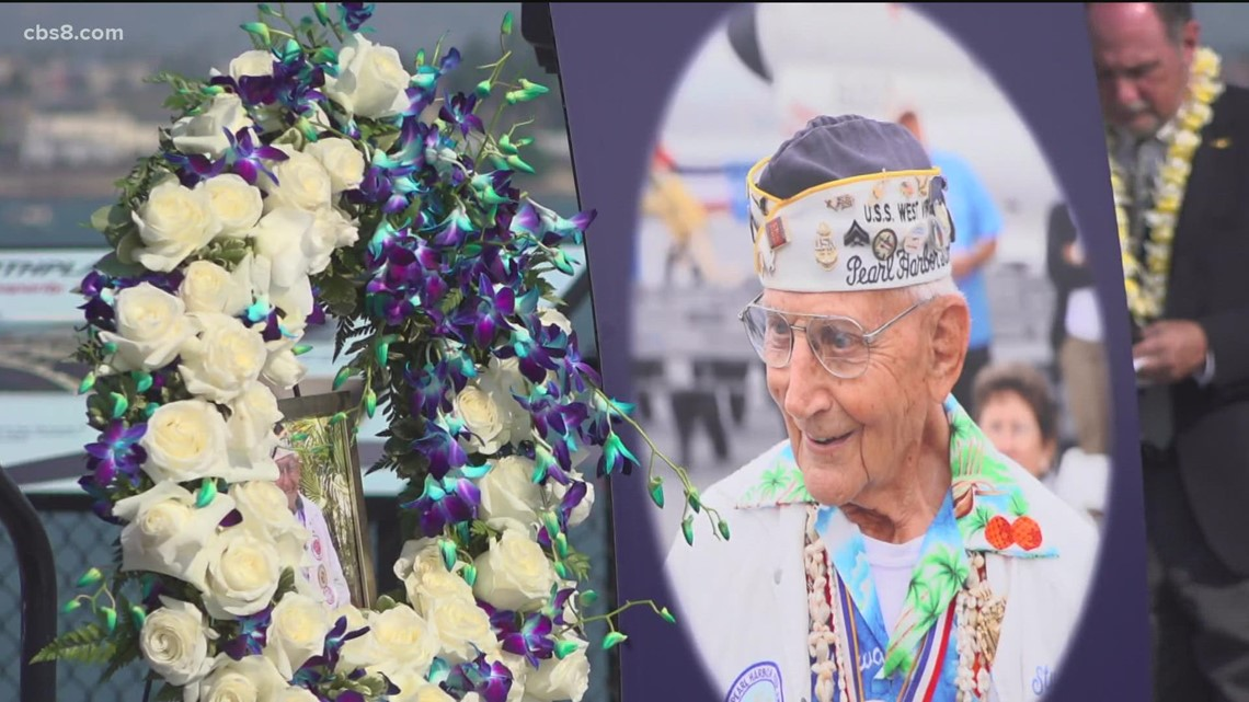 USS Midway holds celebration of life for Pearl Harbor survivor and WWII veteran