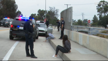 Police search for man following chase that ended with suspect jumping from bridge in La Mesa