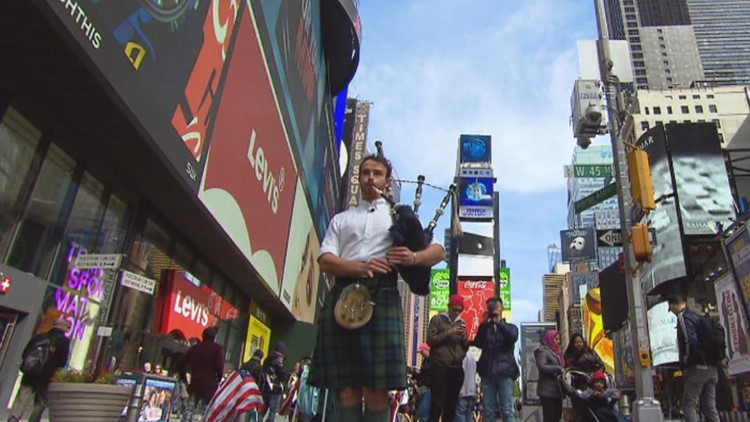 Man Plays Bagpipes in 100 Countries — a World Record