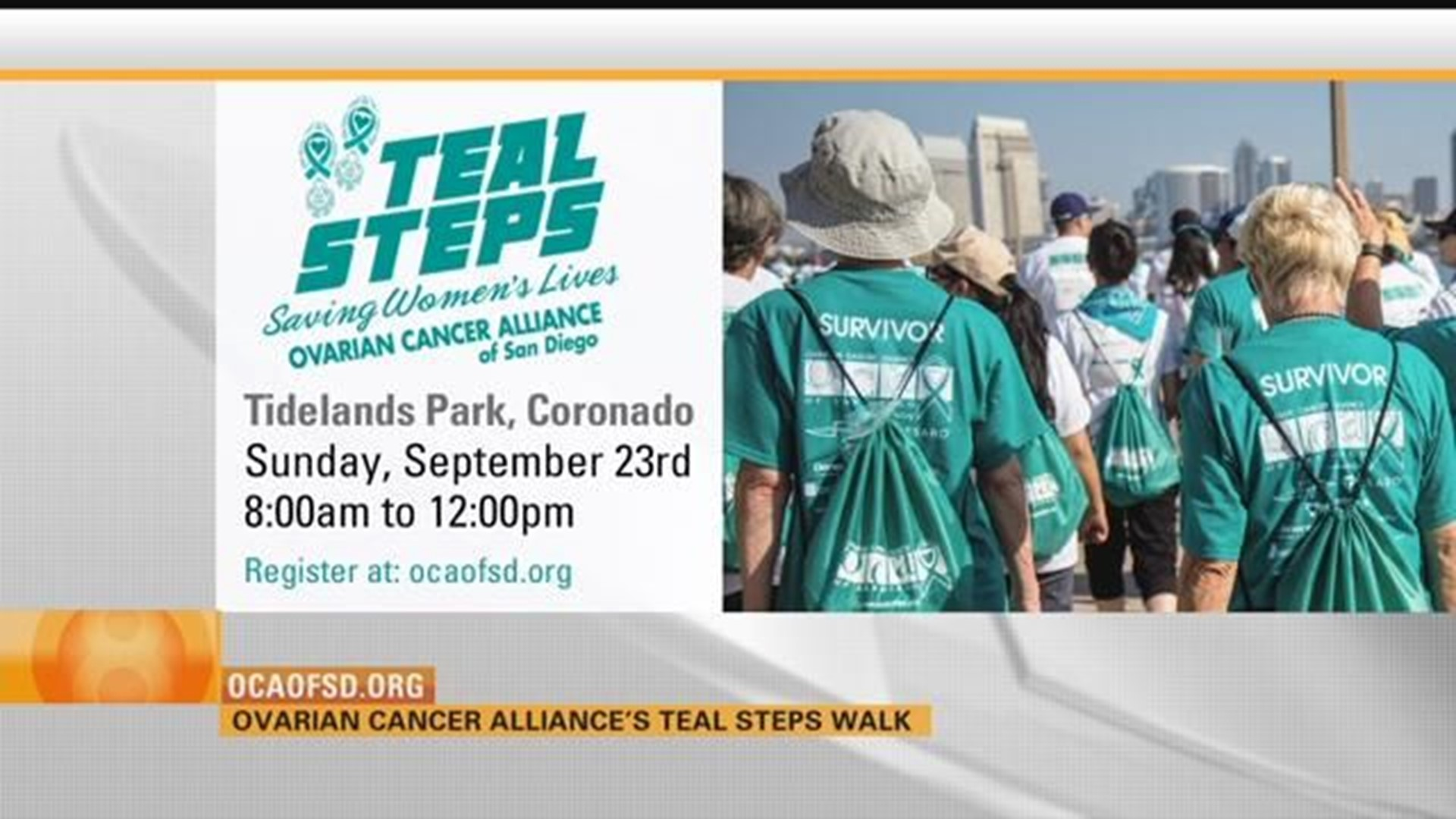 Ovarian Cancer Alliance Of San Diego To Hold Teal Steps Walk This Weekend Cbs8 Com