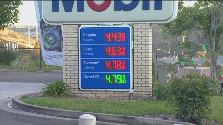 Gas prices continue rising in San Diego County