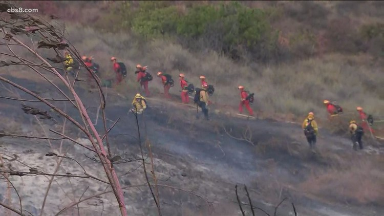 Cal Fire: Fire in Rancho San Diego stopped at 15 acres