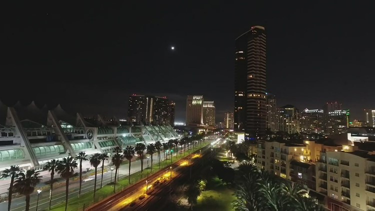 San Diego Time-Lapse night to day - Downtown near Convention Center
