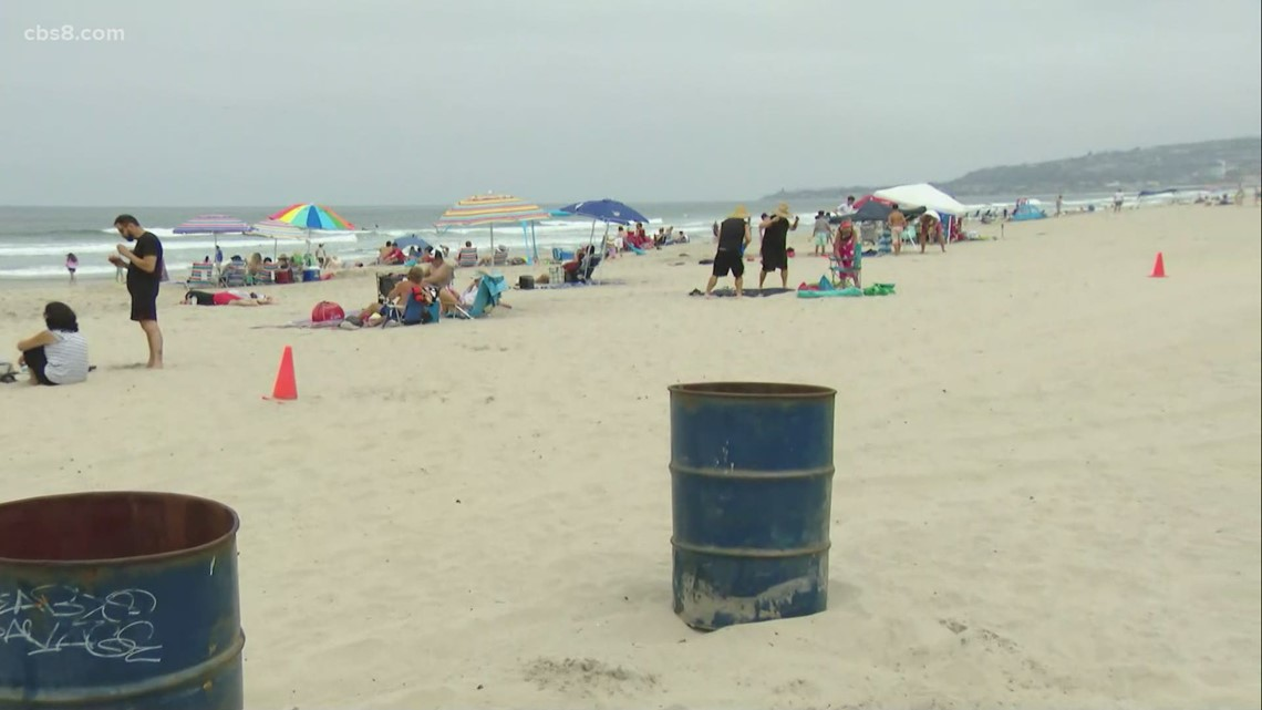 Volunteers help clean up San Diego beaches after Fourth of July celebrations