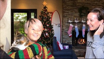 'They will never forget this day   San Diego family gets surprise kitten on Christmas