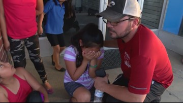 Sobbing 11-year-old girl begs for dad's release after massive ICE raid