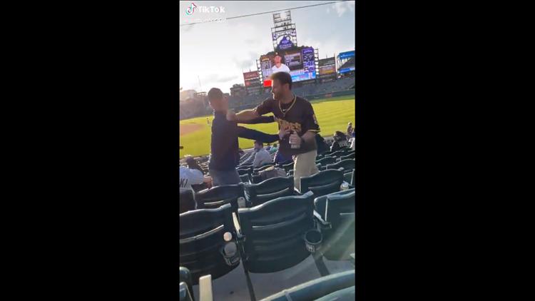 Padres fan knocks Rockies fan seemingly unconscious at game