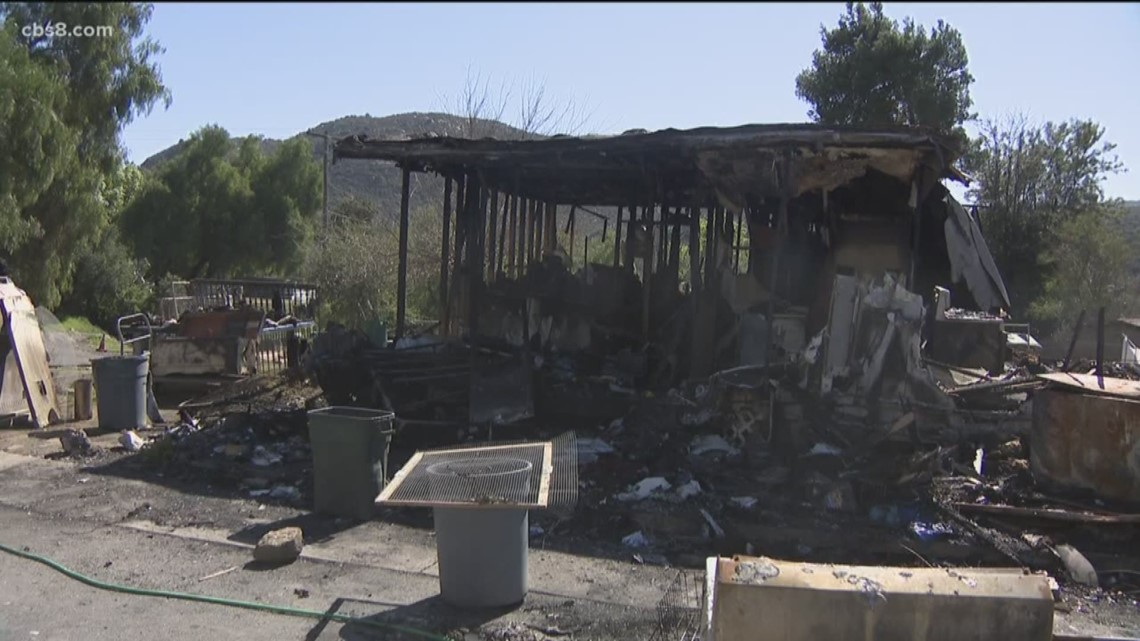 El Cajon family trying to rebuild after house fire