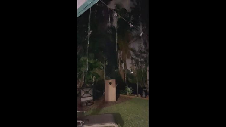 Intense lightning strike knocks out power!