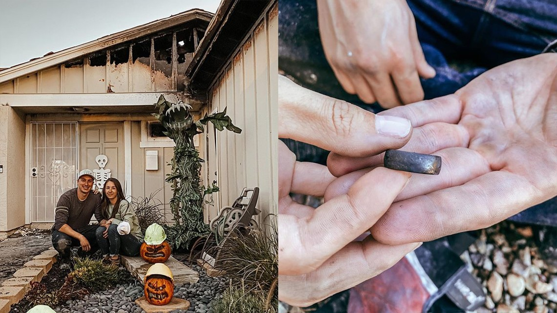 Santee couple finds wedding ring in house fire rubble