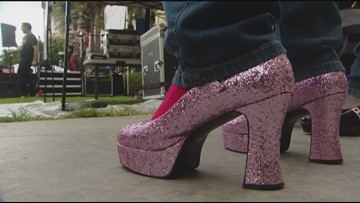 Raise money for domestic violence programs by Walking a Mile in Their Shoes