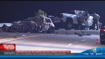 Driver killed in suspected DUI crash on Hwy 67 | cbs8 com