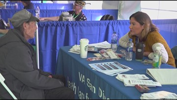 Homeless veterans receive much-needed services at Stand Down event in Vista