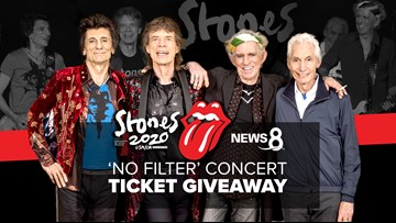 News 8 Rolling Stones 'No Filter' concert ticket giveaway - This contest has ended