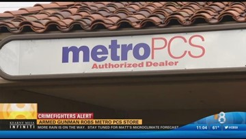 Armed gunman robs Metro PCS Store | cbs8 com