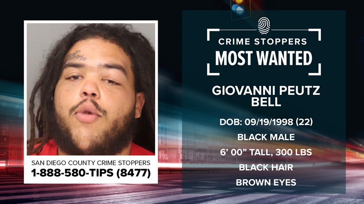 Crime Stoppers Most Wanted: Giovanni Peutz Bell