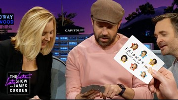 Jason Sudeikis Gets His Lisa Kudrow 'Friends' Hole Punch