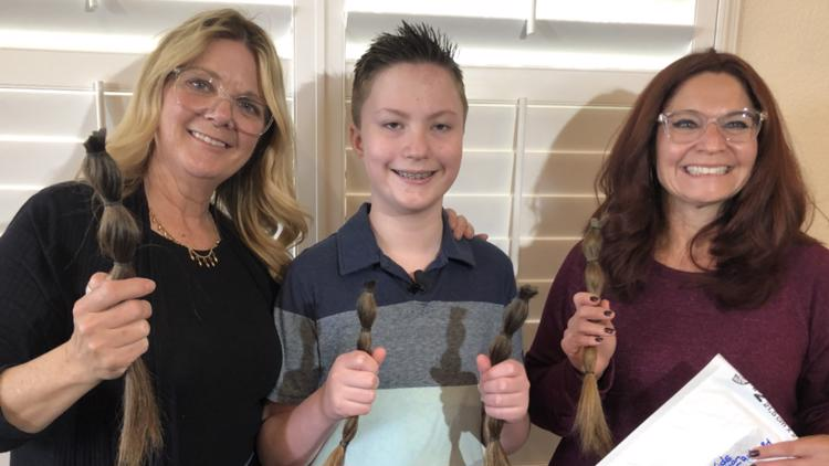 San Marcos boy grows out hair for 2 years for cancer wig donation