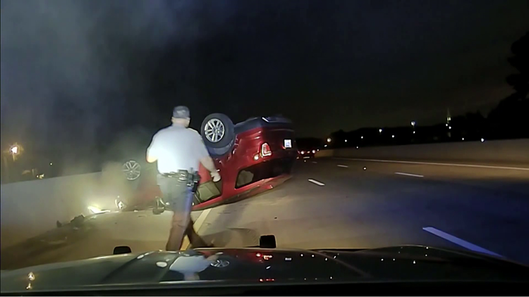 Arkansas trooper sued after flipping pregnant woman's car during traffic stop