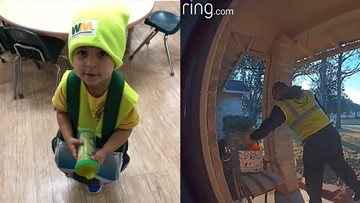 Garbage man becomes Secret Santa for toddler who waves at him every week