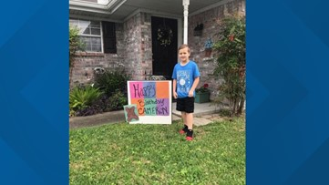 Texas community organizes teddy 'bear hunt' for 7-year-old after birthday party canceled