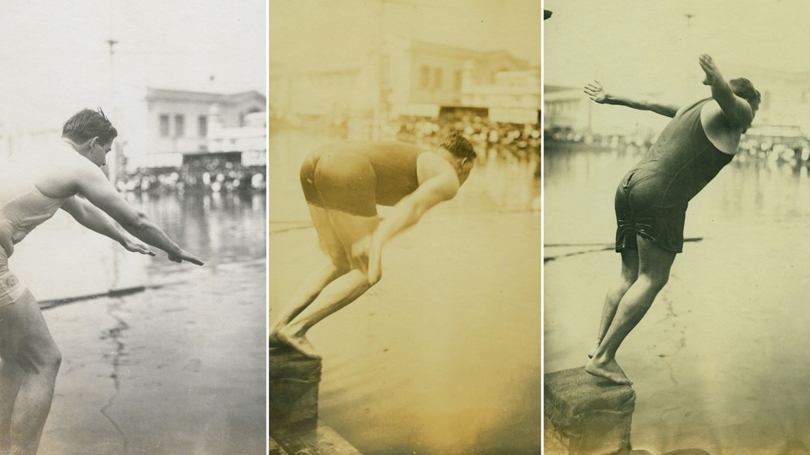 Plunge for distance: A look back at one of the weirdest Olympic events of all time