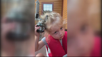 Arkansas girl gets stuck in hairy situation after fishing with dad goes awry
