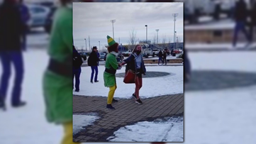 Idaho dad picks daughter up from school in full 'Elf' costume