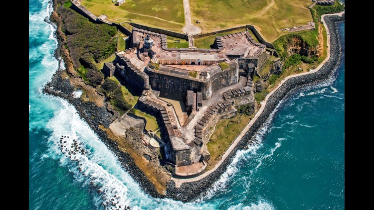 Castillo San Felipe del Morro, also known as Fort San Felipe del Morro or El Morro Castle, is a 16th-century citadel in San Juan, Puerto Rico. (Photo by felixairphoto/Getty Images)