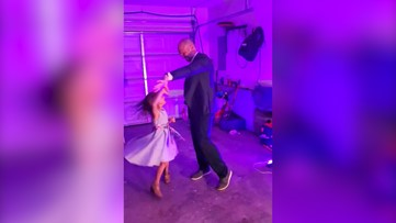 Tennessee dad surprises daughter with personal 'Daddy-Daughter Dance' in family's garage