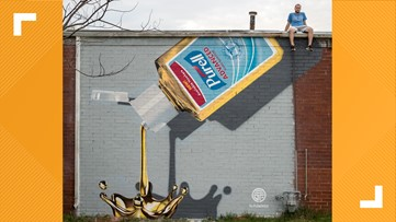 New Charlotte mural pays tribute to hand sanitizer: 'Pure'll Gold'