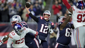 Brady surpasses the Giants on the scoreboard and Manning in the record book